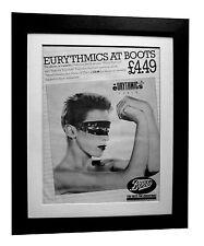 EURYTHMICS+LENNOX+Touch+POSTER+AD+RARE ORIGINAL 1983+FRAMED+EXPRESS GLOBAL SHIP