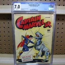 Captain Marvel Jr. 42 CGC 7.0 Robot Cover White Pages Fawcett Publication 1946
