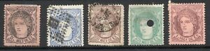 Spanish early issues used 1870's 1ml to 400ml