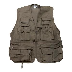 Uncle Milty Fishing Field Travel Safari Vest Khaki Size Large A2