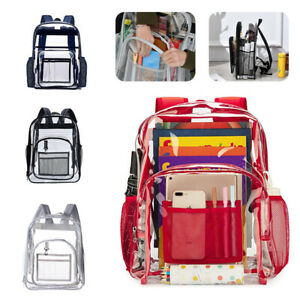 Clear PVC Backpack Durable Heavy Duty Transparent Bag for Sports Concert