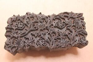 Vintage Traditional Hand Carved Wooden Textile/Fabric/wallpaper Print Block #062
