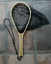 """White River wood deep fishing landing catch and release net 22"""""""