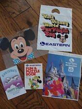 EASTERN AIR Walt Disney World Fun Flight Bag Mask Puzzles BkCover 1980 FREE Ship