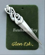 GlenEsk KILT PIN PEWTER CELTIC SERPENT ANTIQUE FINISH MADE IN THE UK SCOTTISH