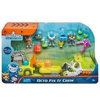 Octonauts Octo Fix It Crew Playset Interactive Vehicles Figures Fisher-Price
