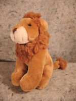 cute vintage  Russ Berrie plush toy stuffed animal Lion STRENGTH Handmade China