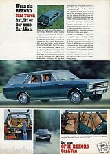 Opel Rekord Caravan Reklame von 1966 Kombi Werbung Ad station waggon vauxhall