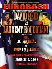 * David Reid vs Boudouani Boxing Offical On Site Program 1999 *