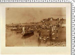 Photo coloniale Française. Somalie. Bord de rivière de villages. Vers 1920