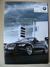 Vendedor PROSPECTO INTERNO BMW M3 E93 Cabrio S65 V8 Argumentos MODELOS