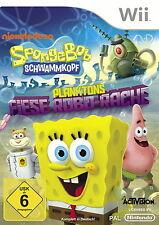 SpongeBob Schwammkopf: Planktons Fiese Robo-Rache (Nintendo Wii, 2015, DVD-Box)