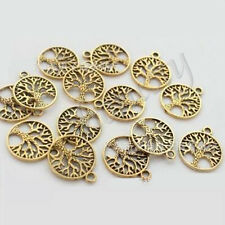 50pcs Tibetan 'tree of Life Circle' Charms Pendants for Jewelry Finding Ancient Bronze Select