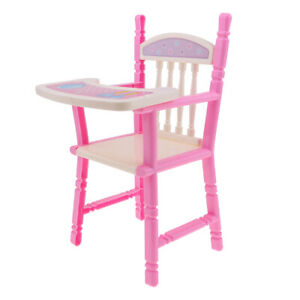 CHILD'S TOY HAND MADE PLASTIC DOLL HIGH CHAIR Vintage Dining Chair Toy