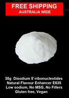 30g   Disodium 5′-ribonucleotide  E635 - flavour enhancer - Vegan  Gluten free