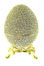 Fully Crystallized Egg Jewelry Trinket Box 166G with Swarovski Crystals Faberge'
