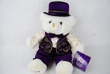 "Dan Dee 2003 Keepsake Memories Bear 19"" Plush Purple Gold White New"