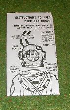 Vintage Action Man 40th Manual prospecto Buceo Profundo Mar