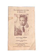 Jackie Wilson Obituary Authentic Memorabilia Original