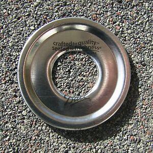 "Mason Jar Soap Dispenser Pump Replacement Lid Regular or Wide Mouth Lid 1"" Hole"
