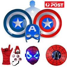 Avenger Super Hero Spiderman Captain America Shield Helmet Halloween Cosplay Toy