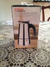 Stainless Steel Home Espresso Maker Manual Stovetop Coffee Pot Percolator 6-Cup