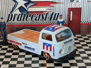 HOT WHEELS VW VOLKSWAGEN T2 PICKUP CUSTOM PUERTO RICO LOOSE 1/64 SCALE