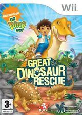 Nintendo Wii Spiel - Go Diego Go! Great Dinosaur Rescue ENGLISCH nur CD