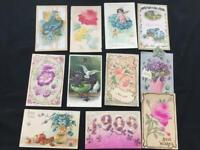 11 vintage postcards Victorian embossed 1908 1910 Allentown PA New Year Birthday