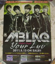 MBLAQ Your Luv 2011 Taiwan Promo Poster