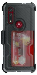Belt Clip Motorola Moto G8, Moto G8+ Case with Card Holder Ghostek Iron Armor 3
