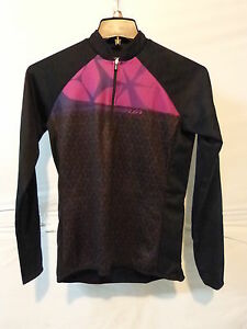 Louis Garneau Women's Gardena 2 Long Sleeve Cycling Jersey Medium Black/Purple
