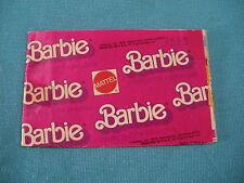 418A Catalogue Dépliant Mattel 1979 Barbie Ken Skipper 16 pages Poupée Mannequin