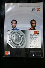 More details for chelsea v man utd 2009 community shield programme and club wembley gold ticket