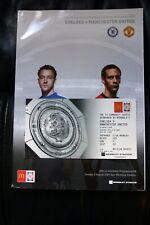 Chelsea v Man Utd 2009 Community Shield Programme and Club Wembley Gold Ticket