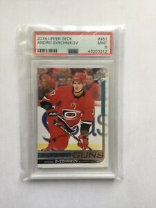 HOCKEY CARD MYSTERY PACK - Andrei Svechnikov Young Guns PSA 9 Chaser