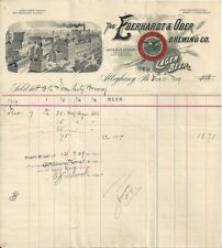 1909 Invoice - Eberhardt & Ober Brewing Co. - Allegheny, PA - Factory