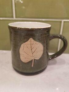 2017 Spectrum Designz Designs SD Fall Autumn Leaf Green Pottery Coffee Mug Cup