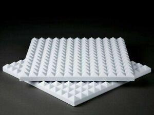 40 Pannelli Fonoassorbenti Piramidali spessore 5cm bianco