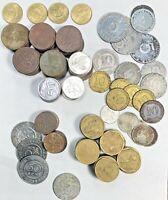 Indonesia Rupiah & Sen (cent) Mixed Coin Lot 50 & 25 Sen, Rp 5,10,25,50 & 100