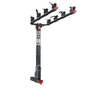 Allen Sports 2 Inch Lockable Hitch Deluxe 4 Bike Rack with Folding Arms, Black