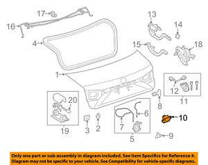 84945-33020 Toyota Switch, luggage electrical key 8494533020, New Genuine OEM Pa