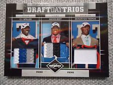 Spiller/Best/D.Thomas 2010 Limited Draft Day Trios Triple Patch Card #3/25