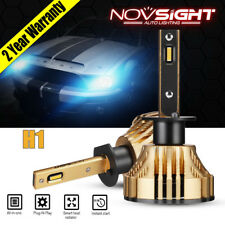 NIGHTEYE NOVSIGHT H1 72W 12000LM 3000K LED Headlight Bulbs Kit Gold Yellow Light