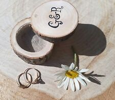 Personalized Rustic Barn Wedding Ring Box Wooden Ring bearer box Engagement Gift