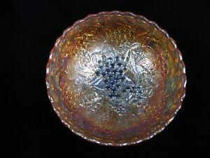"Imperial 'Grape' Marigold Carnival Glass Scalloped Edge Bowl - 7 1/8"" diameter"