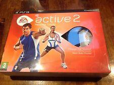 EA Sports Active 2 Personal Trainer-Sony PS3 Cinturino MONITOR USB Gioco in buonissima condizione