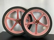 "Skyway Tuff Old School BMX Old School 20"" Pink Wheels with Tyres"