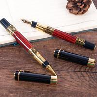 Luxury Business Metal Fountain Pen Office School Black Ink Ballpoint Writing Pen
