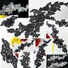 Black Bridal White Floral Embroidery Applique Motif Lace Trim---Various Designs